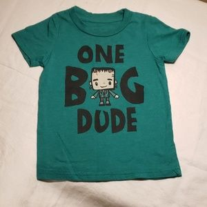 Green short sleeve one big dude tee shirt
